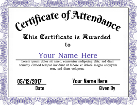 Certificate of Attendance 2 BLUE