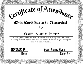 Certificate of Attendance 2