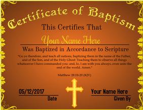 Certificate of Baptism 2