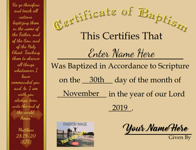 Certificate of Baptism 2019