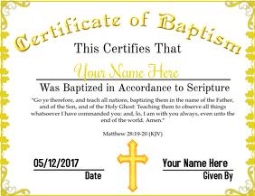 Certificate of Baptism 3
