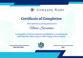 certificate of completion A4 template