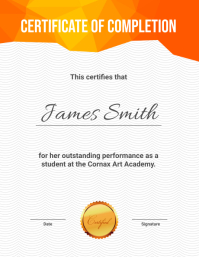 Certificate of Completion Template Flyer (US Letter)