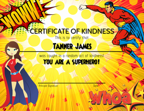 Certificate of Kindness