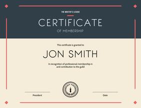 Certificate of Membership Landscape
