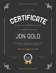 Certificate of Membership Portrait