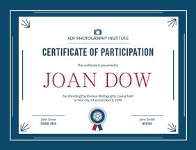 Certificate of Participation Landscape