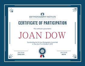 Certificate of Participation Landscape