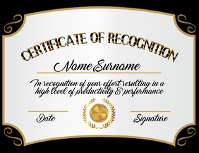 Certificate of Recognition Template Pamflet (VSA Brief)