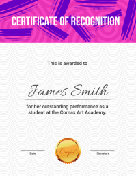 Certificate Of Recognition Template Flyer (US Letter)