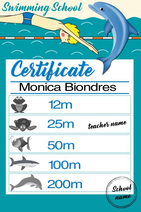 certificate swimming1