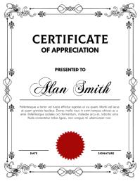 Certificate Template Pamflet (Letter AS)