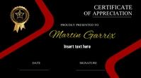 certificate template Digital Display (16:9)