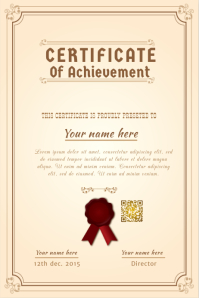 Certificate template - With a ribbon