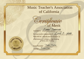 Customizable design templates for school certificate postermywall certificate of achievement similar design templates yelopaper Choice Image
