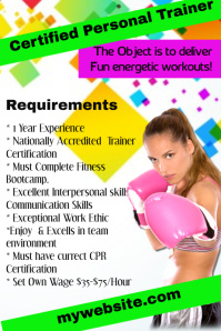 Certified Kickboxing Trainer Wanted