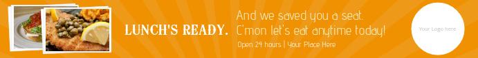 Restaurant Leaderboard Ad Template