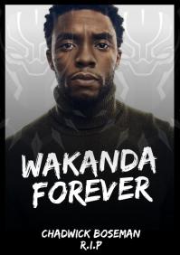 Chadwick Boseman R.I.P Template A4