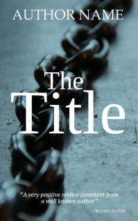 Chains Kindle book cover art template Kindle/Book Covers