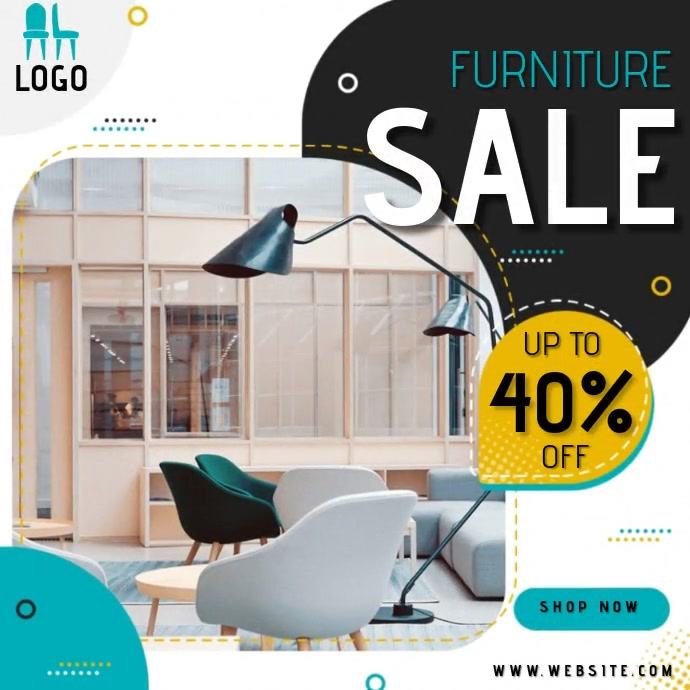 CHAIR store shop sales AD TEMPLATE Logo