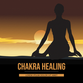 Chakra Meditation Yoga Music Album Cover Portada de Álbum template