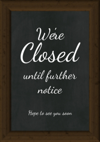 Chalk Board Flyer Poster Template Closed Sign