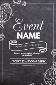 chalk event flyer template