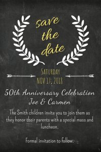 Chalk Save the Date Template