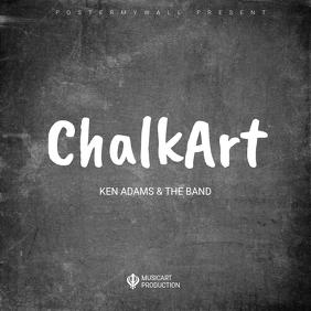 Chalkboard album cover art design template