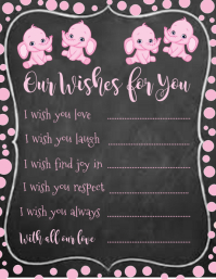 Chalkboard Baby Shower Invitation Wishes & Prayers