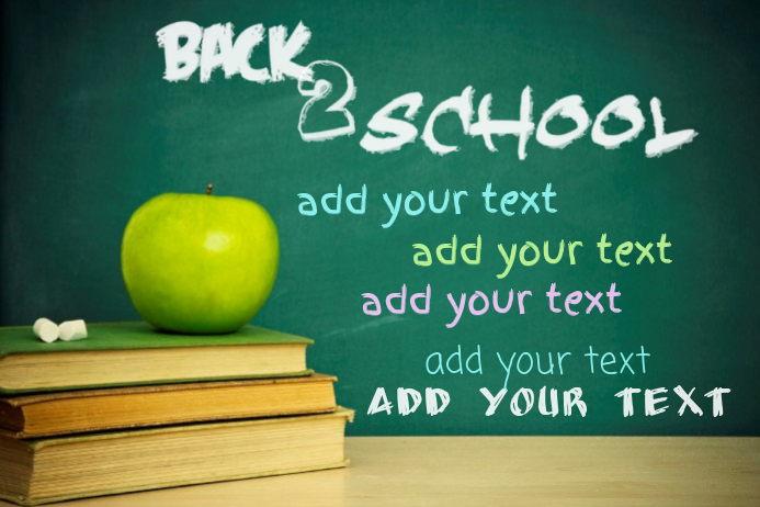 Chalkboard books apple School Poster Flyer