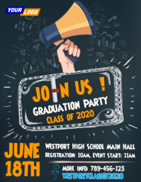 chalkboard graduation party design Flyer (US Letter) template