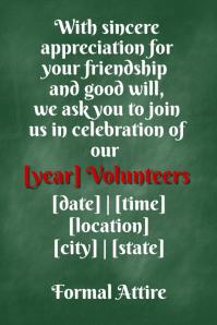 Chalkboard Invitation School Fundraiser Event Formal