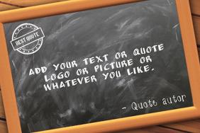 chalkboard or blackboard quote back to school landscape flyer template