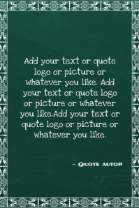 chalkboard or blackboard quote back to school flyer template