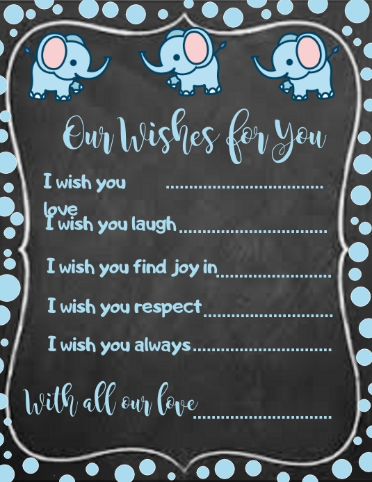 Chalkboard Our Wishes for you