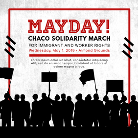 Chalky May Day Rally Instagram Ad Template