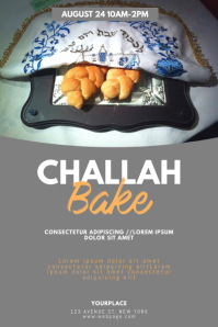 Challah Bake Flyer Design Template