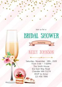 Champagne and dessert party invitation