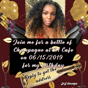 CHAMPAGNE BIRTHDAY TEMPLATE