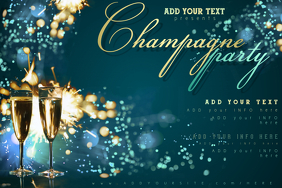 Champagne Drink Bar Celebration New Year Wine Party Firework