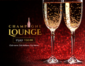 champagne Lounge Party Invitation poster