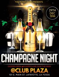 CHAMPAGNE NIGHT CLUB FLYER