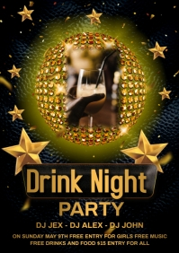 Champagne party A4 template