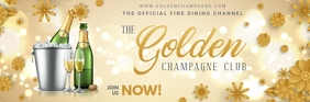 Champagne Party Email Header Intestazione e-mail template