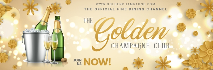 Champagne Party Email Header E-mail-overskrift template
