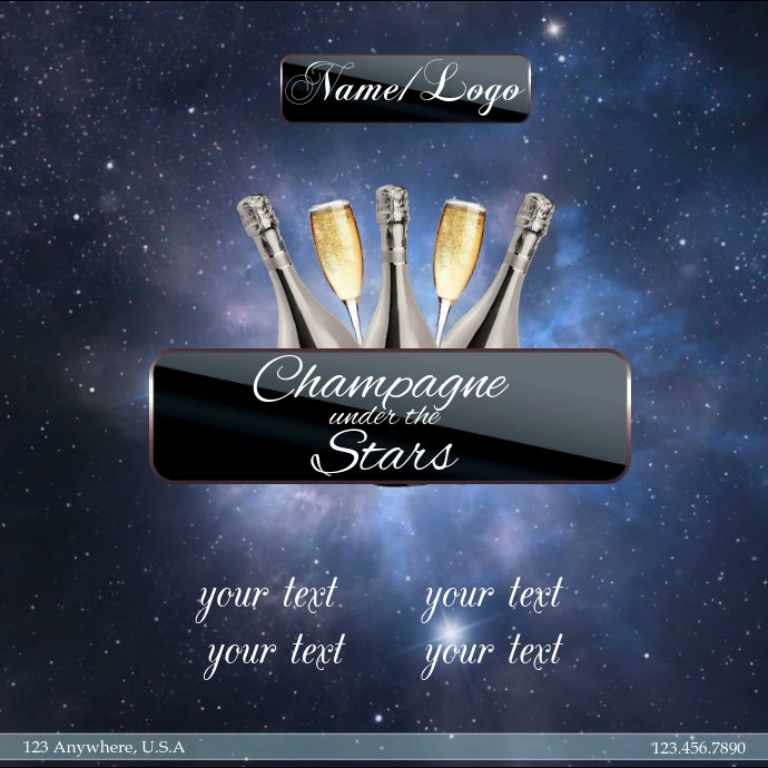 champagne under the stars