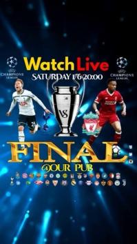 Champions League final video Tampilan Digital (9:16) template