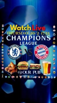 Champions League Instagram Pantalla Digital (9:16) template