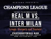 Champions League Match Football Soccer Flyer